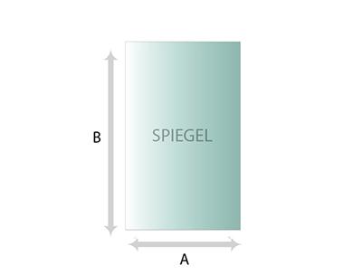 Vierkant rechthoek spiegel helder spiegels op maat for Spiegels op maat