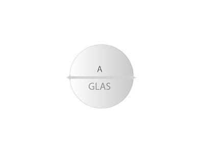 Rond Glas helder