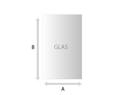 Vierkant – Rechthoek Glas helder