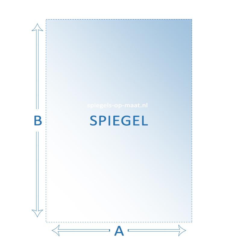 Extreem Spiegel op maat - vierkant of rechthoek | spiegels-op-maat.nl VU41